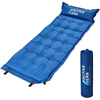 Active Era Self-Inflating Camping Pad with Pillow and Air Pockets | Lightweight and Comfortable Foam Sleeping Pad
