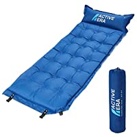 Active Era Self-Inflating Camping Pad with Pillow and Air Pockets | Lightweight and Comfortable Foam Sleeping Pad 24