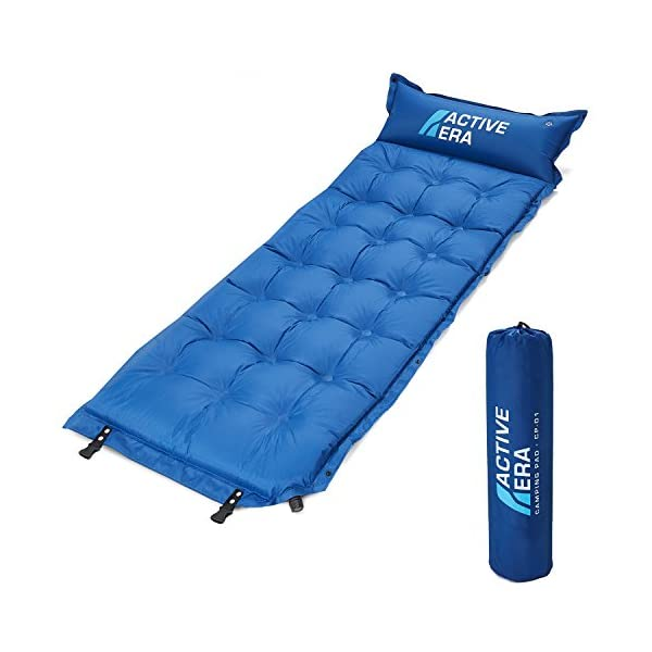 Active Era Self-Inflating Camping Pad with Pillow and Air Pockets | Lightweight and Comfortable Foam Sleeping Pad 1