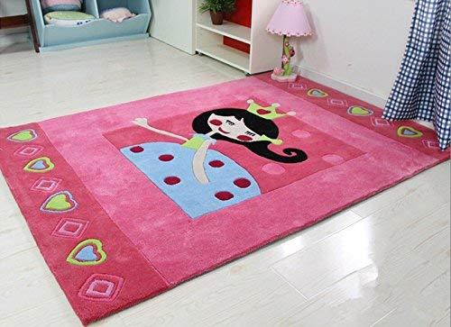 L.HPT Teppiche und Decken Cartoon-rosa Kinderzimmer Princess Room Teppichboden Schlafzimmer Teppich (größe : 160X230CM)