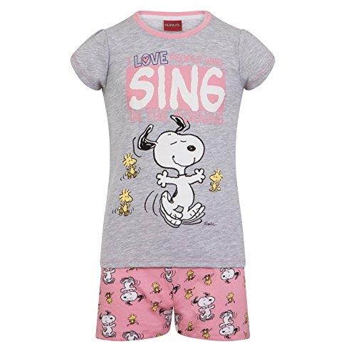 Peanuts - Mädchen Schlafanzug mit Snoopy-Motiv - kurz - Offizielles Merchandise - Geschenk für Kleinkinder - 6-7Jahre (Peanut Snoopy Schlafanzug)