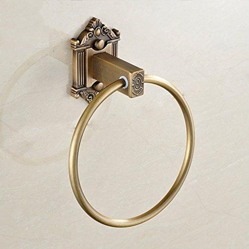 Nero imitazione antica bagno anello di tovagliolo bagno retro anello di tovagliolo @greawei (colore : brass)