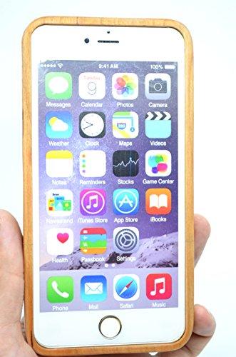 RoseFlower(TM) iPhone 6 Plus (5,5 Zoll (14 cm) Holzhülle - Kirschbaum-Maya - NatürlicheHandgemachteBambus / Holz Schutzhüllemit Kostenlose Displayschutzfolie für Ihr Smartphone Kirschbaum-Maya