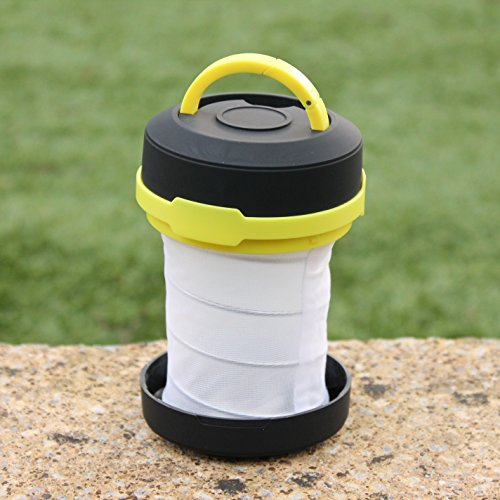 PK Green LED Camping Lantern Light Collapsible Outdoor Battery Operated Bright Lamp Emergency Hiking Flashlight Torch Lanterns for Tent