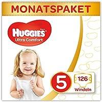 Huggies Windeln Ultra Comfort Baby Größe 5 Monatsbox, 1er Pack (1 x 126 Stück)