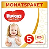 Huggies Windeln Ultra Comfort Baby Monatsbox, Größe 5, 126 Stück