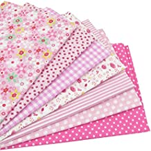 7 piezas 49cm * 49cm tela de algodón rosado para patchwork,telas para hacer patchwork