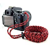 Techlife Brand Red Color Braided Paracord Camera Adjustable Wrist Strap/ Wristband