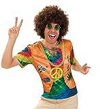 KarnevalsTeufel Shirt Hippie, 70er Jahre Oberteil für Herren mit Westenaufdruck (XL)