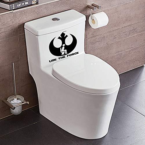 (Mitlfuny Weihnachten Home TüR Dekoration,Verwenden Sie die Kraft lustige Toilette Aufkleber Vinyl Aufkleber DIY Wand Aufkleber WC)