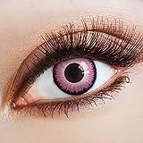 aricona Farblinsen deckend farbige Kontaktlinsen Flamingo Einhorn Kostüm