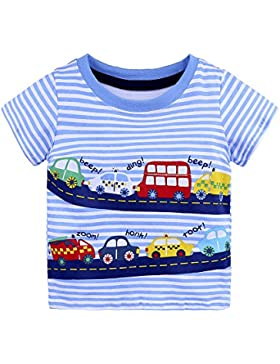 Hoplsen Bebé Camisetas, Infantil Niño Niña Camisetas Dibujos Impresión Tapas Manga Corta Verano Primavera Casual...