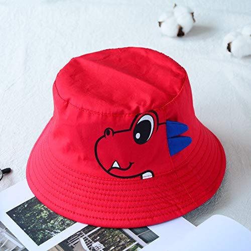 mlpnko Kinder Cartoon Dinosaurier doppelseitige Fischer Hut Jungen und Mädchen Outdoor-Visier Baby Pot Cap rot - Neue Grüne Ranger Kostüm