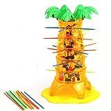 Elecenty Baby Lernspielzeug Tumbling Affe Spielzeug Spiel Spielzeug Frühe Erziehung Unisex Kinderspielzeug Zusammenspielen Zusammenspielen Interaktive Spiele Lernspielzeug-Tool (1 Set, Mehrfarbig)