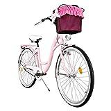 """Milord. 2018 Comfort Bike con Cesto, Bicicletta da Città Donna, 3 Velocità, Rosa, 28"""""""