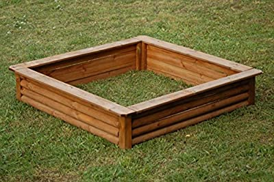Sandkasten Sandkiste 150x150cm KDI braun imprägniert von Werth-Holz - Du und dein Garten