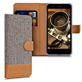 kwmobile Wallet Case for LG K8 (2018) / K9 - Fabric and PU