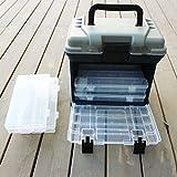 Forfar Pesca Tackle Box 5 strati Big Pesca Tackle Strumento di archiviazione Caso scatola con la maniglia Plastica 27 * 17 * 26cm esterna portatile