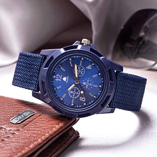 Herren Uhren Armbanduhren, Nourich Outdoor Sports Herren Quarzwerk Military Watch Dial Business Armbanduhr Sportuhr Uhr Analog Quarzuhr mit Nylon Armband Herrenuhren Geschenk Strap (Blau)