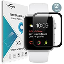 Apple Watch Series 2 42mm Protector de Pantalla,[2-Pack]VIFLYKOO Apple Watch Series 2 Touch Cristal Vidrio Templado Protector 9H Tempered Glass Screen Protector para Apple Watch Series 2 [iWatch 42mm] Smartwatch