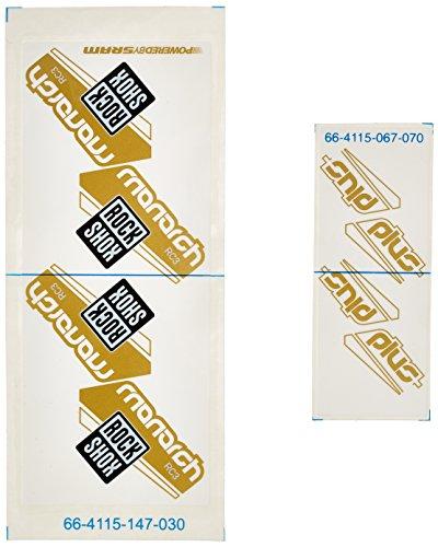 Rock Shox Monarch Plus Standard-Set/Aufkleber Volumen kann White Can/Gold Decal 57/63/66 m Preisvergleich
