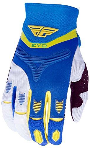 Fly Racing Evolution 2.0 Motocross/Mountainbike Handschuhe blau-gelb-weiß 9 -