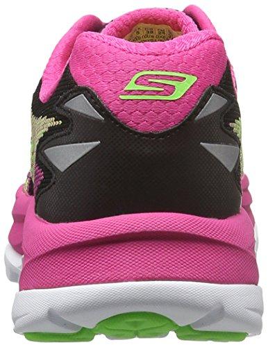Skechers Go Run Ultra RRoad, Chaussures de Running Compétition Femme Noir - Noir (Bkhp)