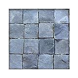 Basalt Pflaster 14 x14 x5-6 cm Basaltpflaster Pflasterstein Naturstein Garten 294 Steine ( 6m² )