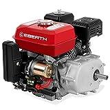 EBERTH 6,5 PS 4,8 kW Benzinmotor mit Ölbadkupplung (E-Start, 20 mm Wellendurchmesser, Ölmangelsicherung, 1 Zylinder, 4-Takt, luftgekühlt, Seilzugstart)