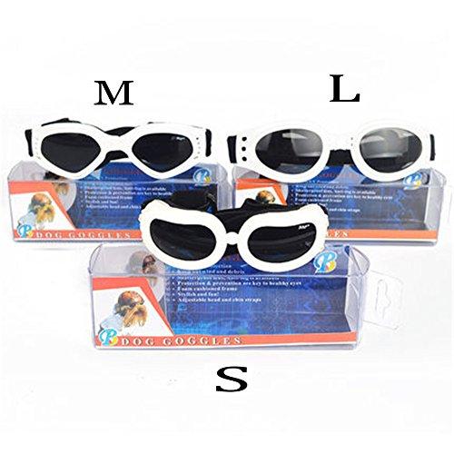 TJW Hund Brillen Klapp Haustier Puppy Sonnenbrille UV-Schutz Brille winddicht Brillen