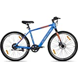 """Lectro Kinza 27.5T SS Single Speed Kinza 27.5T Single Speed Electric Cycle - 18"""" Frame, (Blue & Black)"""