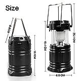 #10: J GO Solar Emergency Light Lantern, USB Mobile Charging Point, Rechargeable Night Light Travel Camping Lantern