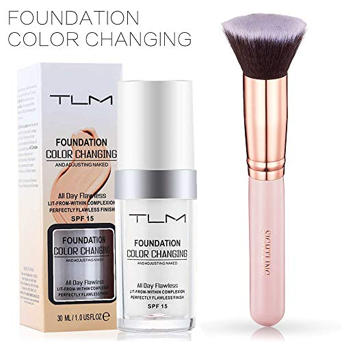 TLM 30ml Flawless Farbwechsel Concealer Abdeckung mit Make-Up Pinsel Kabuki Schminkpinsel Kosmetikpinsel Foundation Pinsel By SIGHTLING -