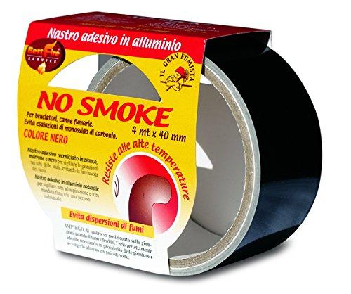 Best Fire 06252Pflanzenring Klebeband no Smoke, Schwarz