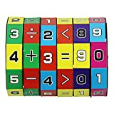 Bihood Math Learning Toys Mathematics Learning Toys Math Counting Cubes ADHD Fidget Toys Mindful Parenting for ADHD ADHD Toys ADHD Toys for Kids 3D Cube