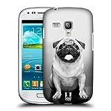 Head Case Designs Hübscher Mops Hunderassen Snap-on Schutzhülle Back Case für Samsung Galaxy S3 III mini I8190