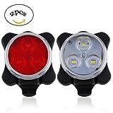 Wiederaufladbare LED Fahrradlampe ZEROF Wiederaufladbare LED-Bike Lights Set,Scheinwerfer Kombinationen Rücklicht LED Fahrrad Licht Set