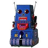 MS371 Vintage-Uhrwerk Wind Up Tank-Roboter mit Key-Zinn-Spielzeug-sammelbare Geschenk