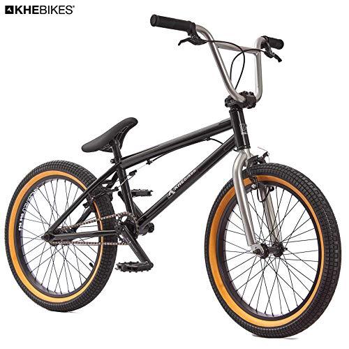KHE BMX Fahrrad Beater patentierter Affix 360° Rotor 20 Zoll nur 11,2kg! schwarz grau (Schwarz-Silber)