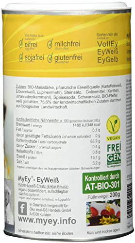 MyEy EyWeiß – Eiweiß-Ersatz – natürlich & voll aufschlagbar – vegan – 200g - 5