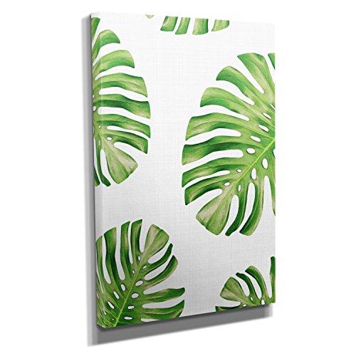 monstera-leaves-kunstdruck-auf-leinwand-60x90-cm-zum-verschonern-ihrer-wohnung-verschiedene-formate-