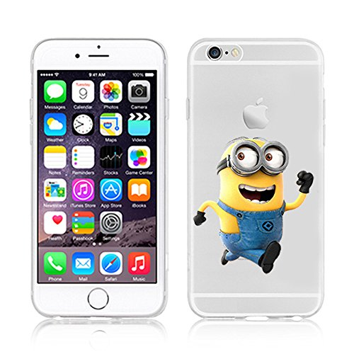 Coque souple pour Apple iPhone 4/4S, 5/5S/SE, 5 C, 6/6S et 6 Plus Motif Minion, plastique, MINION 1, Apple iPhone 5c