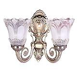 #5: Sanleen Enterprises Home Décor Antique Portuguese Style Double Lamp Wall Light with led bulp