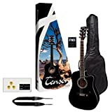 Tenson F502236 Stage Pack Guitare electro-acoustique Noir