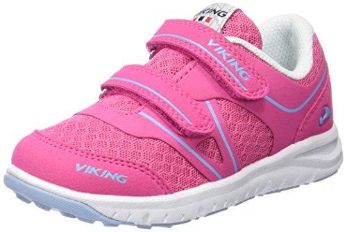 Viking Hel Ii, Baskets Basses mixte enfant Rose - Pink (Dark Pink/Light Blue 3956)