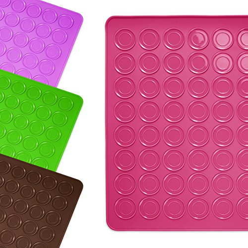 Lumaland l4020 formschöne Silikon Backmatte Macarons 30 x 40cm , pink