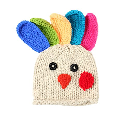 DELEY Unisex Baby Cartoon Crochet Knit Beanie Türkei Hat Kleinkind Kleidung Outfit Foto Requisiten 0-6 Monate