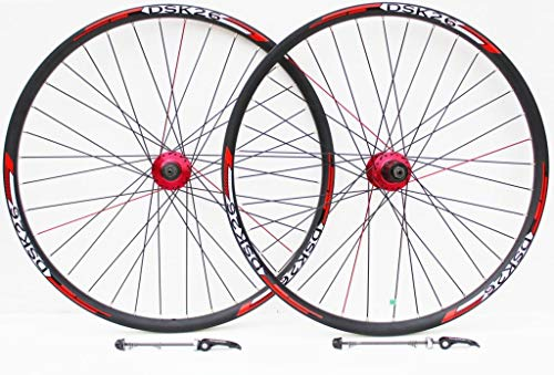 66cm Roue de vélo de Montagne Rouge et Décoder Stickers pour Frein à Disque Uniquement Roues,...