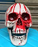 Zhang New Bloody Skull Broken Skull Halloween Horror Props Haunted House Decoration Supplies Props And Sets Chamber Of Secrets 17 (Color : Red)