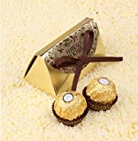 Hrain Wedding Favors And Gifts Baby Shower Paper Candy Box Ferrero Rocher Boxes Wedding Favors Sweet Gifts Bags Supplies,100pcs